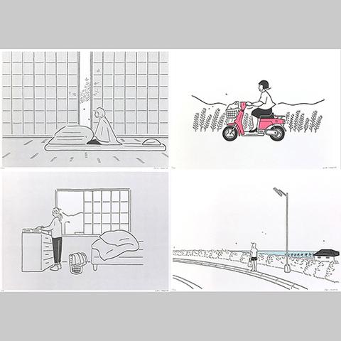 小幡彩貴「季節の記録」Riso Print Group B