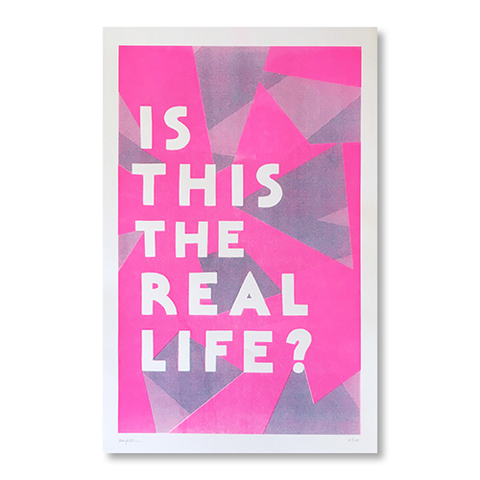 "Margherita Urbani riso-print ""IS THIS THE REAL LIFE?"""