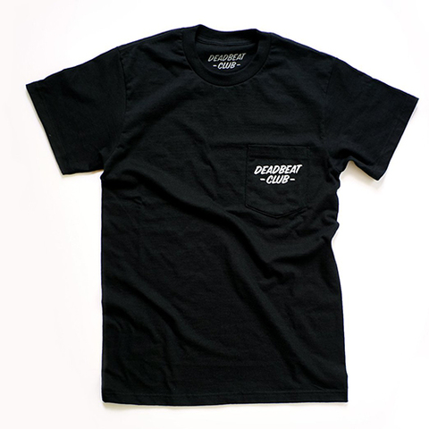 DEADBEAT CLUB POCKET Tshirt [Black]