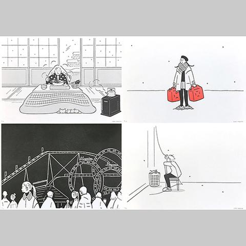 小幡彩貴「季節の記録」Riso Print Group A