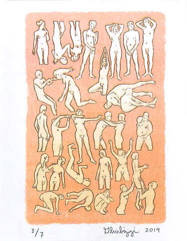 Untitled, 2019 (dance) Riso print by Dan Gluibizzi