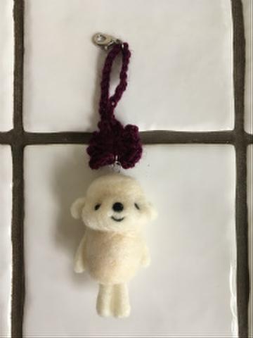 羊毛チャーム(紫)