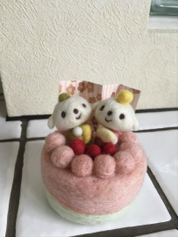 お雛様デコレーションケーキ