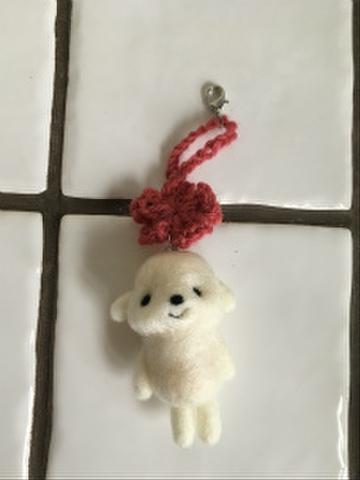 羊毛チャーム(ピンク)
