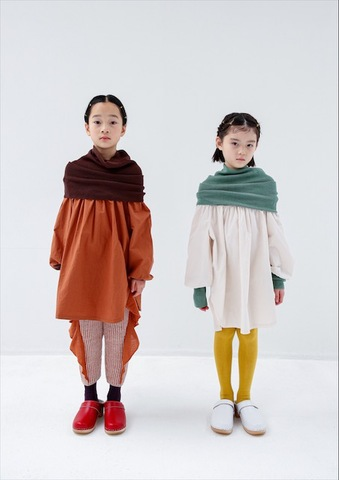 (コドモ)(オトナ)warm neck pullover / folk made