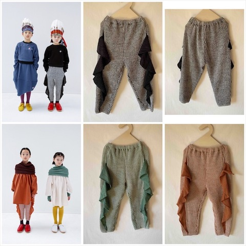 (オトナ)Friled rib stitch pants / folk made