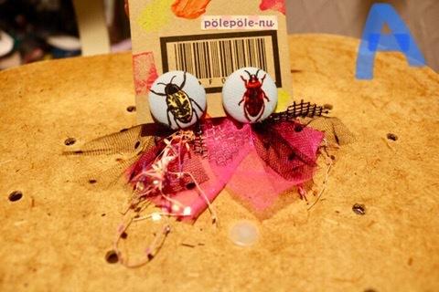 蟲の世界ピアス/polepole-nu ※クレジット不可