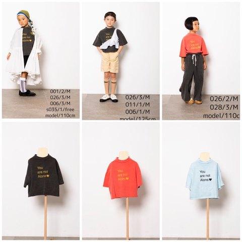 (コドモ)(オトナ) peacedye  printTシャツ/ folk made