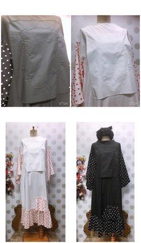(woman) BEAR EMBROIDERY BONBON CUT JQ DRESS  / frankygrow