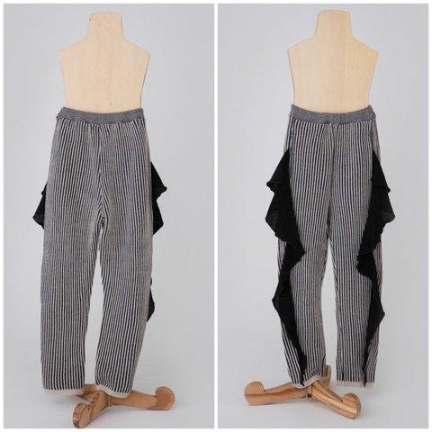 (オトナ) frilled rib stitch pants / folk made