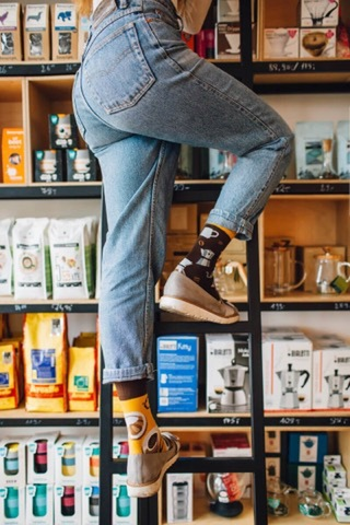 Mens&Ladys socks coffee LOVER  / manymorning