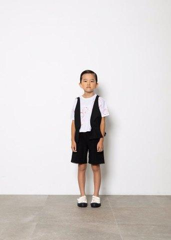 (コドモ)(オトナ) flare vest/ folk made