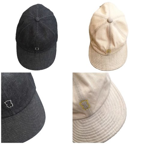 (コドモ)(オトナ)  EMBROIDERY BEAR DENIM CAP /frankygrow