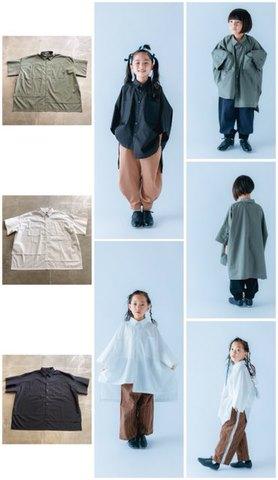 (コドモ) (オトナ)カラーステッチシャツ