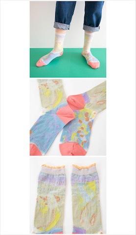オトナ靴下 葉と水の隙間  / COQ