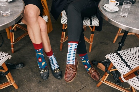 Mens&Ladys socks BONJOUR FRANCE / manymornings