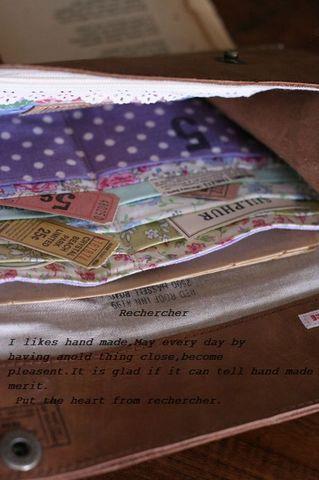 牛革&リバティ&フィードサックの長財布○。