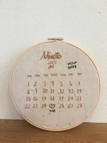アニバーサリー刺繍フレーム/ピンク