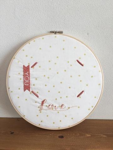 刺繍フォトフレーム