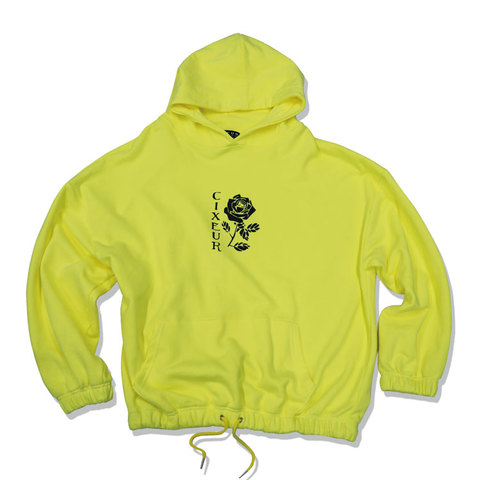 "BIG SILOUETTE HOODIE ""NEON YELLOW"""