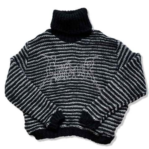 Mohair sweater black&white
