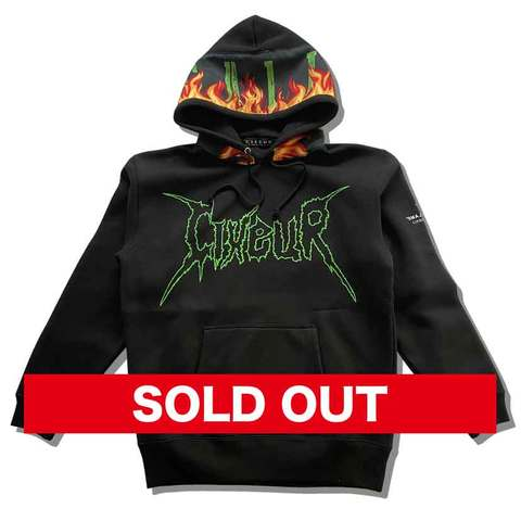 "Sweat hoody ""blame flame"" black"