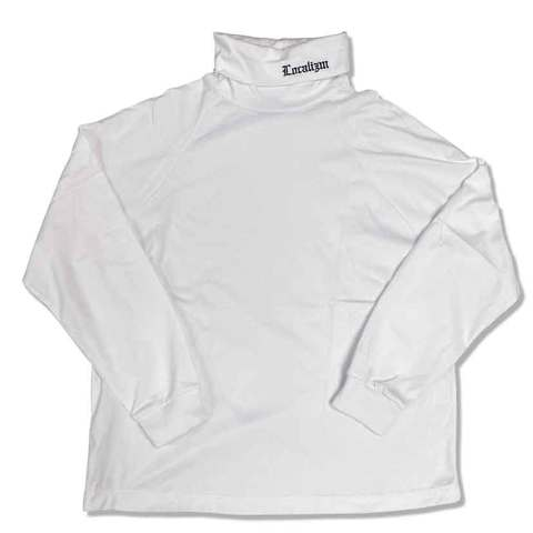 High neck Raglan sleeves T-shirts white