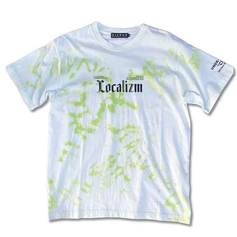 Localizm T-shirts white&lime