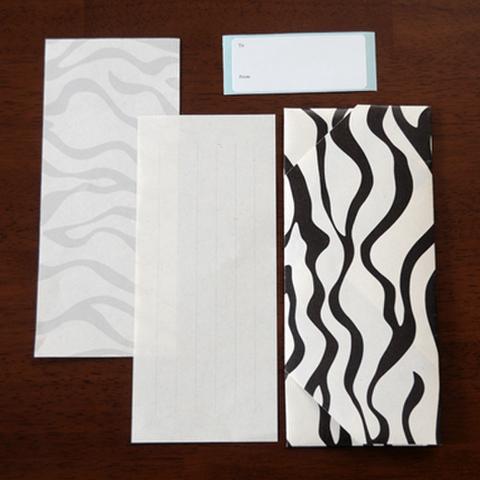 ヨシ紙一筆箋セット Zebra(ゼブラ)