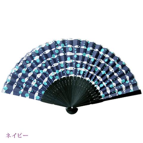 高島扇骨&湖東麻織物の布扇子 conami(コナミ)