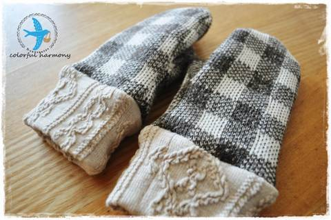 ★ダウンロード用★ミシンで作るミトン手袋(キッズ)