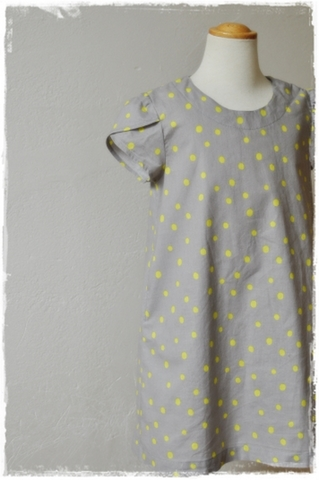 tulip sleevedブラウス・ワンピース90~140,大人F