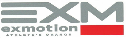exmotion ATHLETE'S ORANGE ステッカー