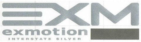 exmotion INTERSTATE SILVER ステッカー