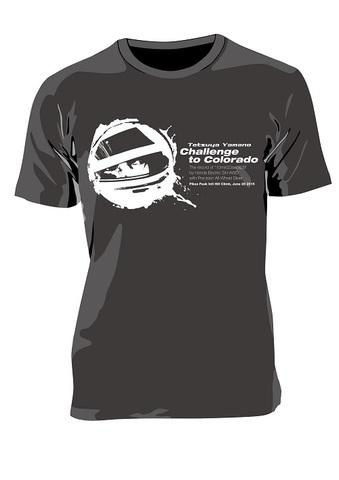 """山野哲也 パイクスピーク記念Tシャツ """"Challenge to Colorado Tシャツ"""""""