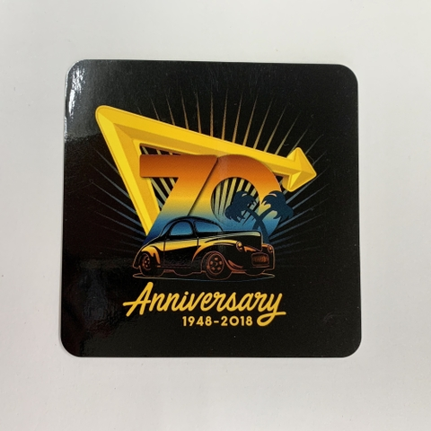 IN-N-OUT 70thANNIVERSARY-STICKER 2