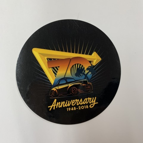 IN-N-OUT 70thANNIVERSARY-STICKER 1