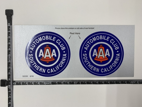 AAA BUMPER STICKER A