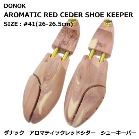 DONOK アロマティック レッドシダー シューキーパー 紳士用 #41(26-26.5cm) AROMATIC REDCEDER SHOE KEEPER オリジナル 贈り物にもおすすめ