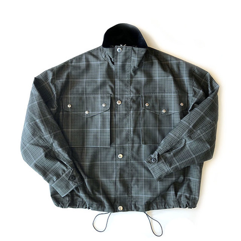GABARDINE CHECK DENISON JACKET