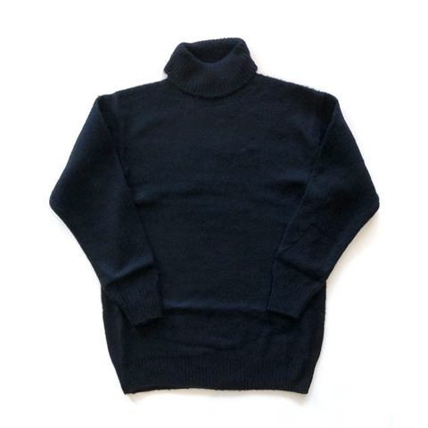7G RAISING PLAIN STITCH TURTLE SWEATER