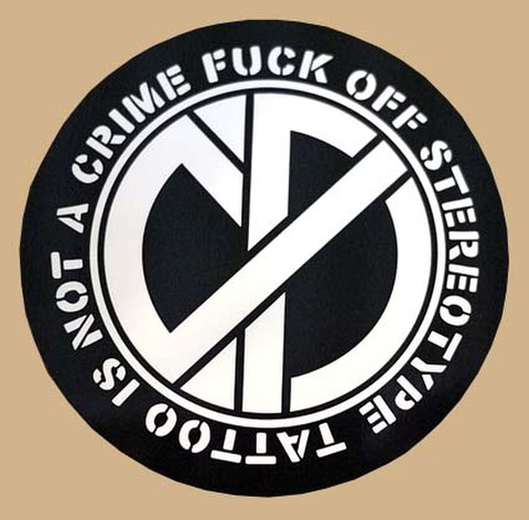 """CP""""TATTOO IS NOT A CRIME""""STICKER"""