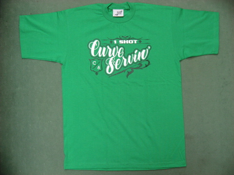 CURVE SERVIN' T-SHIRTS 1SHOT GREEN