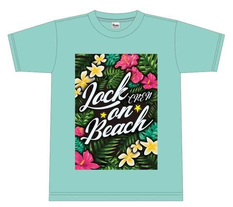 LOCK☆ON☆BEACH Tシャツ(AQUA)