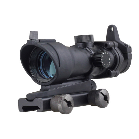 Tactical Illumination ACOG Style 1x32 Red / Green Dot Rifle Scope with mount