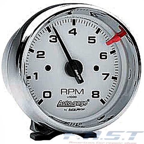 タコメーター 95φ クローム ホワイト 8000RPM