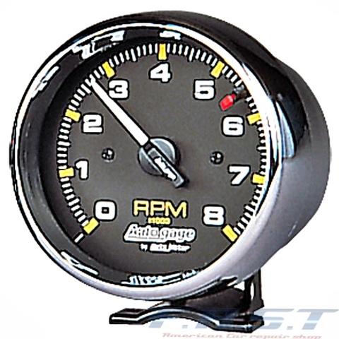 タコメーター 95φ クローム ブラック 8000RPM