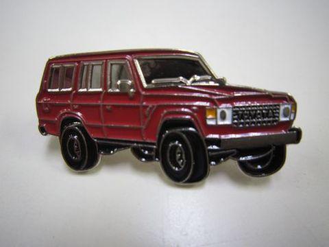 ランクル60ワゴン ピンバッチ 赤 新品