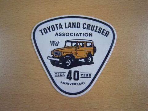TLCA40周年記念 ランクル40マスタード・イエロー ステッカー 新品