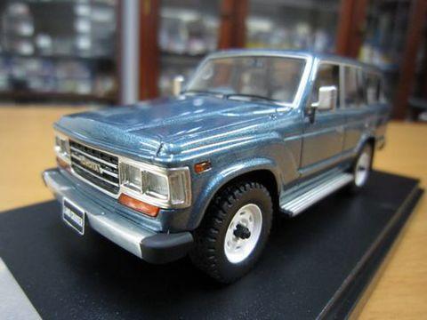 ランクル60 角目GX 1989 ブルーイッシュグレーメタリック 1/43 新品